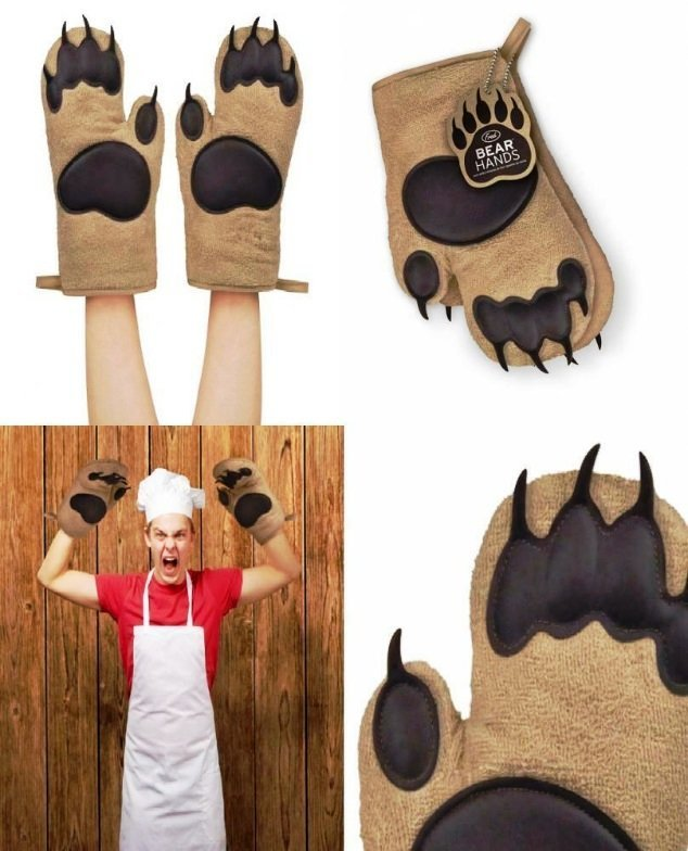Grizzly Oven Mitts