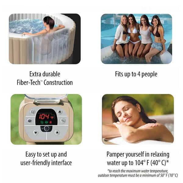 inflatable hot tub key features