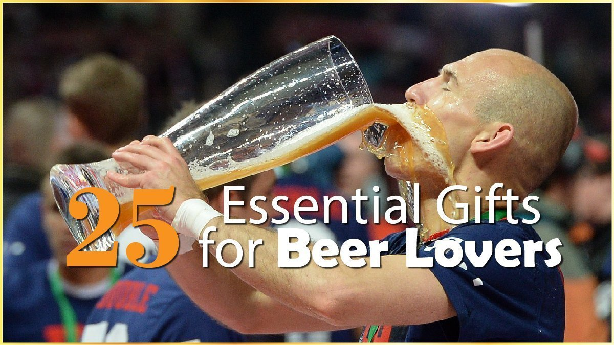 25 Essential Gifts for Beer Lovers Banner