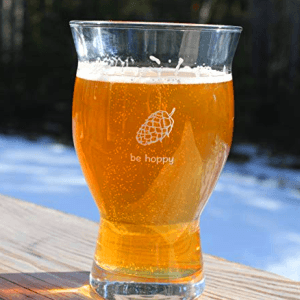 nucleated beer glass