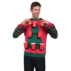 Beer Pong Christmas Sweater