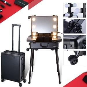 Makeup Train Case with Bluetooth Speaker