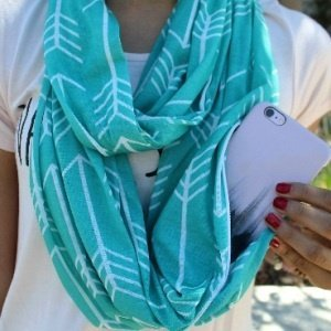 Scarf With Hidden Pocket