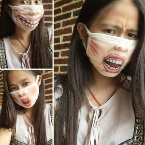 Funny Face Mouth Mask