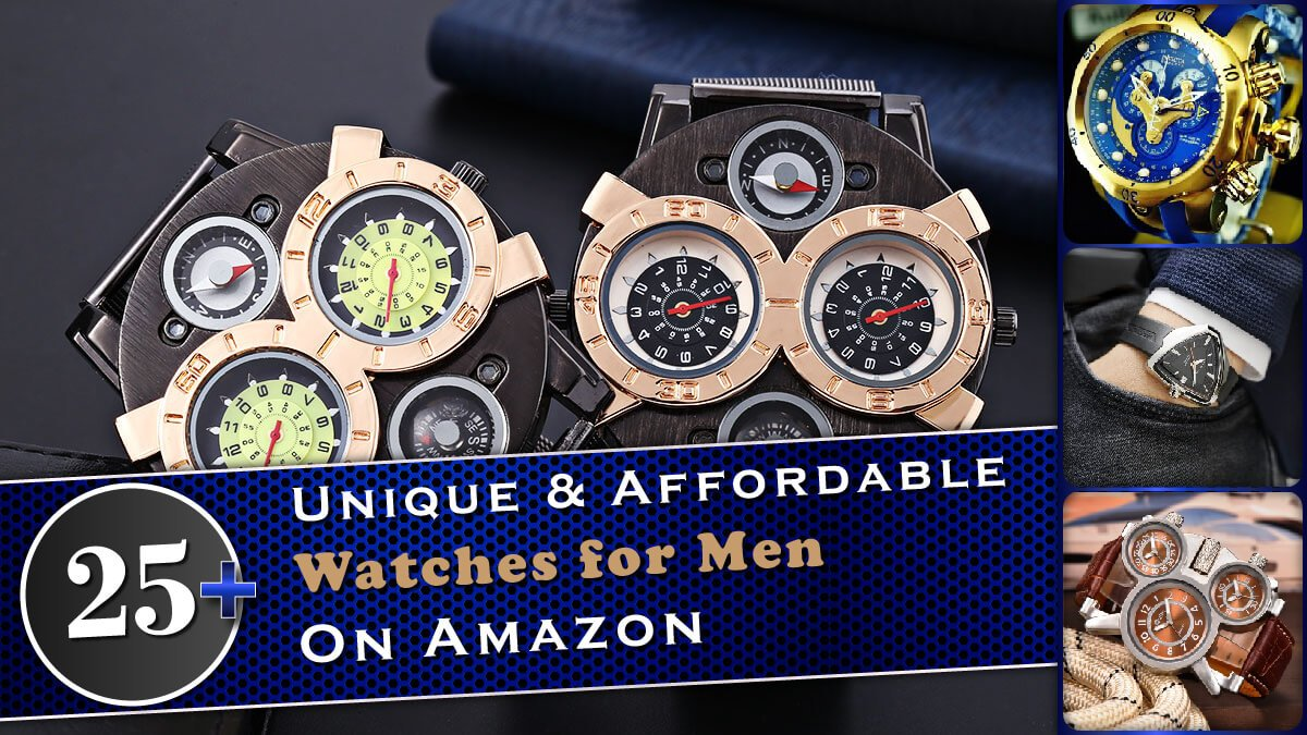25+ Unique & Affordable Watches for Men on Amazon Banner Image