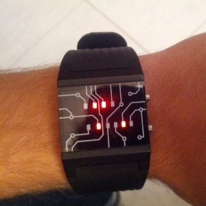 Binary Watch with LED Lights