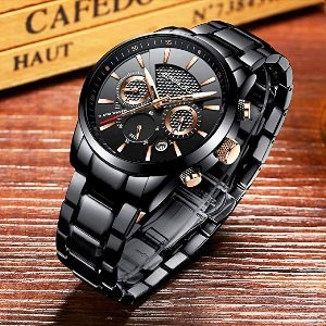 Chronograph Waterproof Wristwatch