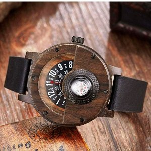 Compass Wooden Watch