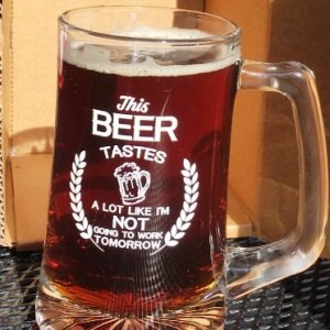 Retirement Beer Glass