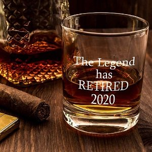 Retirement Whiskey Glass