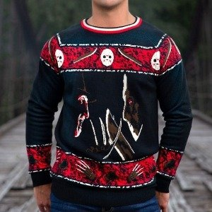Freddy vs Jason Ugly Halloween Sweater