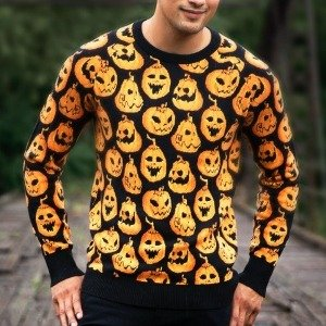 Pumpkin Frenzy Ugly Halloween Sweater