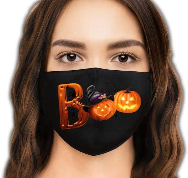 Facemask Boo Transparent-small