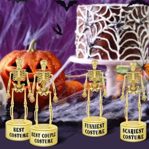 Halloween Best Costume Skeleton Trophies