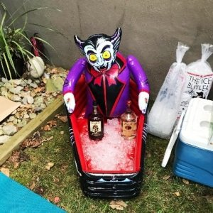 Inflatable Vampire and Coffin Cooler