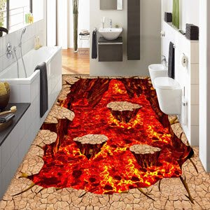 Lava Floor Decal