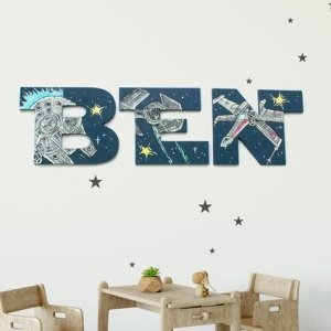 Personalized Star Wars Wall Letters