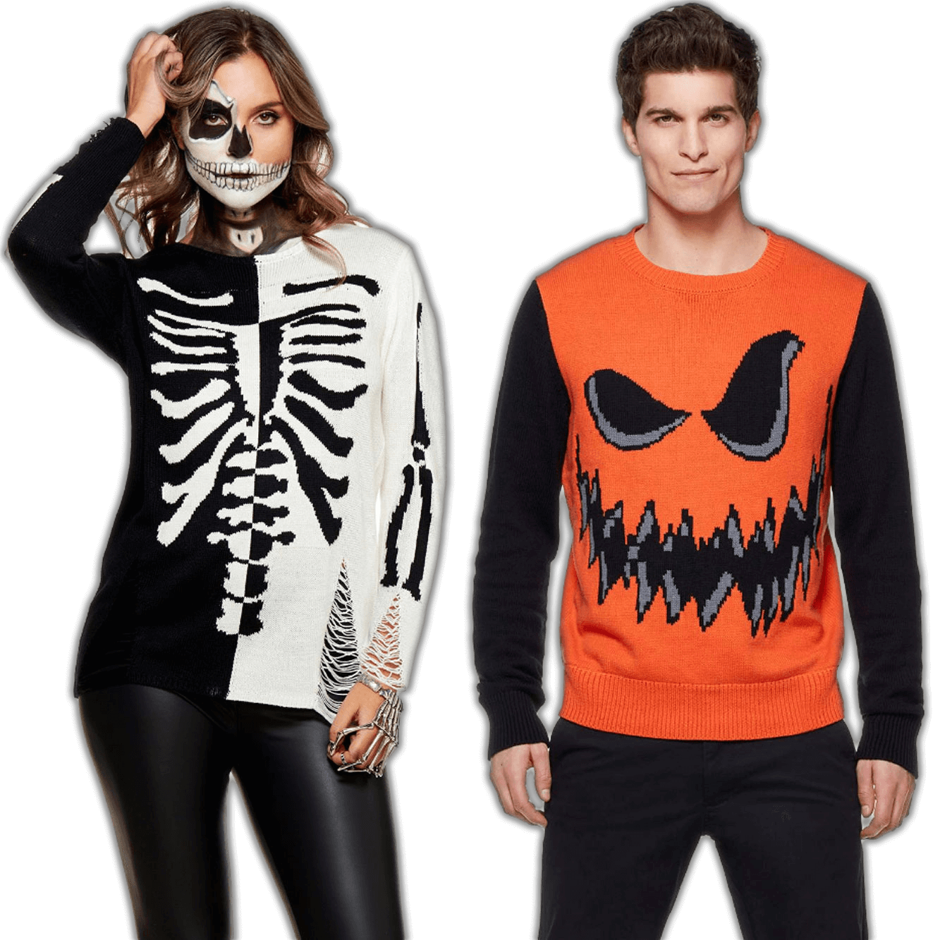 halloween sweaters couple-small