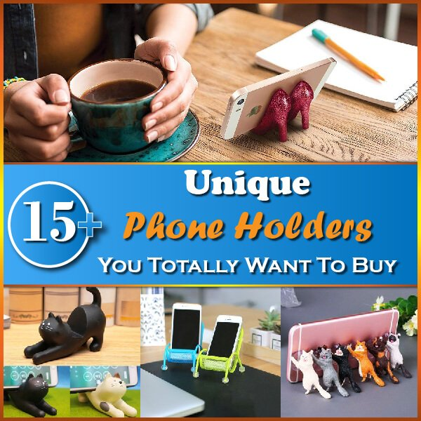 """Featured image for """"15+ Unique Phone Holders You Totally Want To Buy"""""""