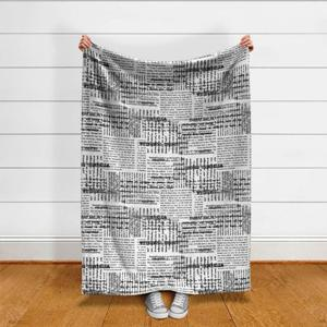 Book Pages Throw Blanket