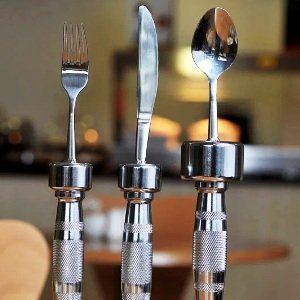 Dumbbell Eating Utensils