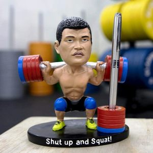 Gym Rat Bobblehead Pen Holder