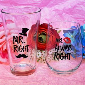 Mr. Right and Mrs. Always Right Glasses