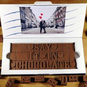 Personalized Chocolate Letter