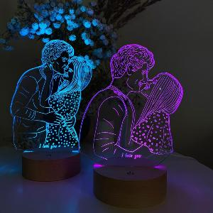 Personalized Couple 3D Lamp