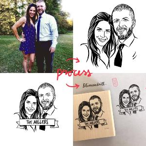 Personalized Couples Stamp
