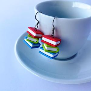 Stacked Books Earrings