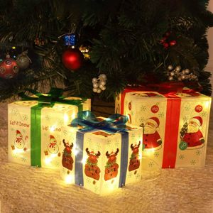 Christmas Lighted Boxes