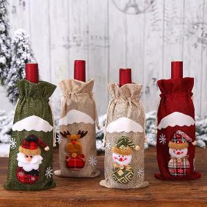 Christmas Wine Bottle Cover Bags