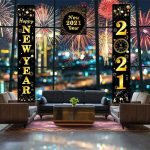 Happy New Year 2021 Porch Sign