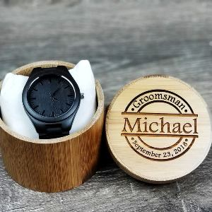 Personalized Wooden Watch with Case