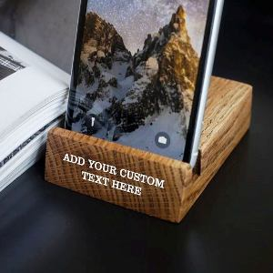 Personolized Wood Phone Stand