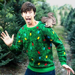 Squirrel in the Christmas Tree Ugly Sweater