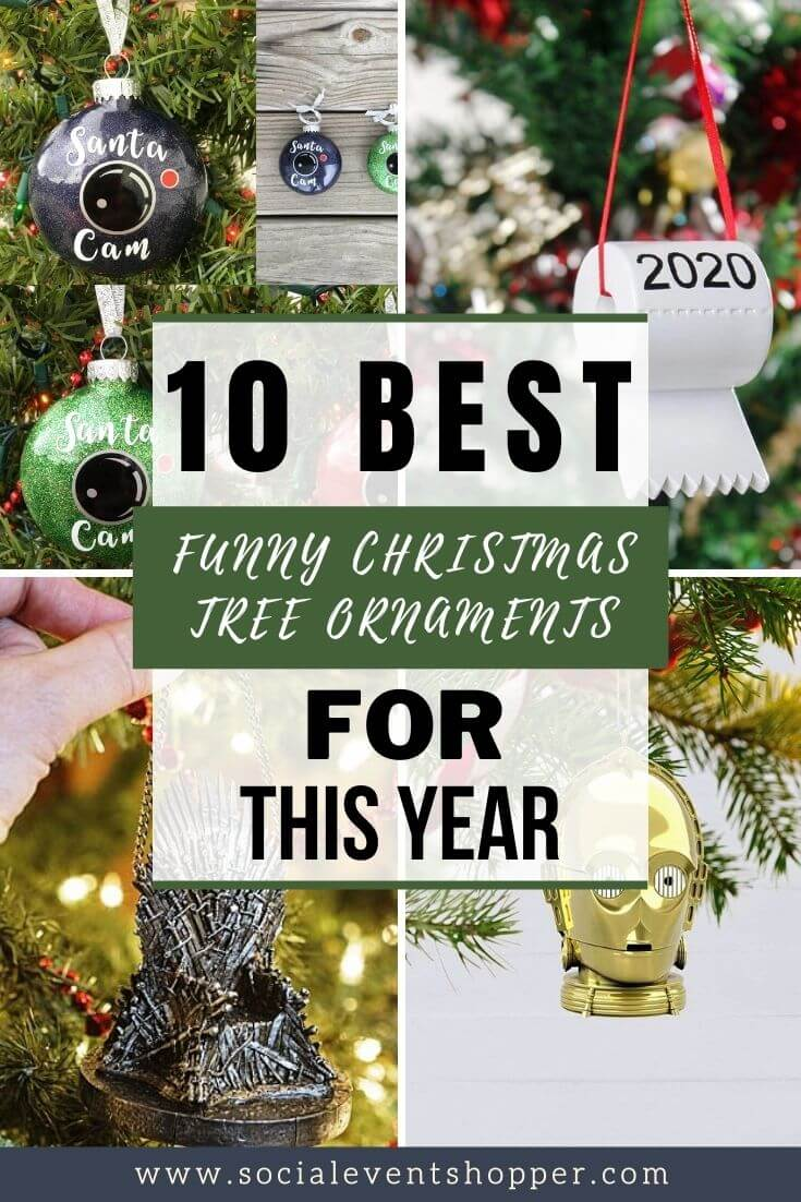 The 10 Best Funny Christmas Tree Ornaments Pinterest