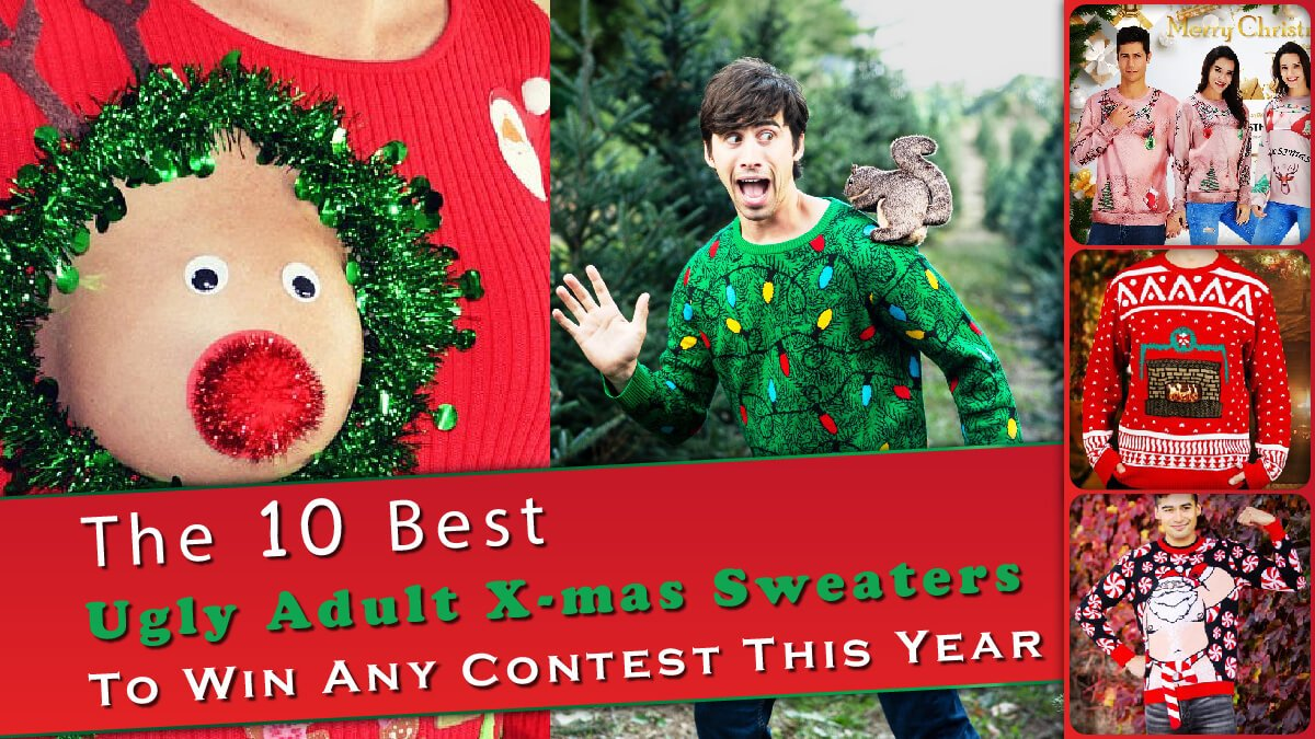The 10 Best Ugly Adult Christmas Sweaters Banner