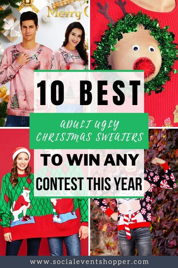 The 10 Best Ugly Adult Christmas Sweaters Pinterest