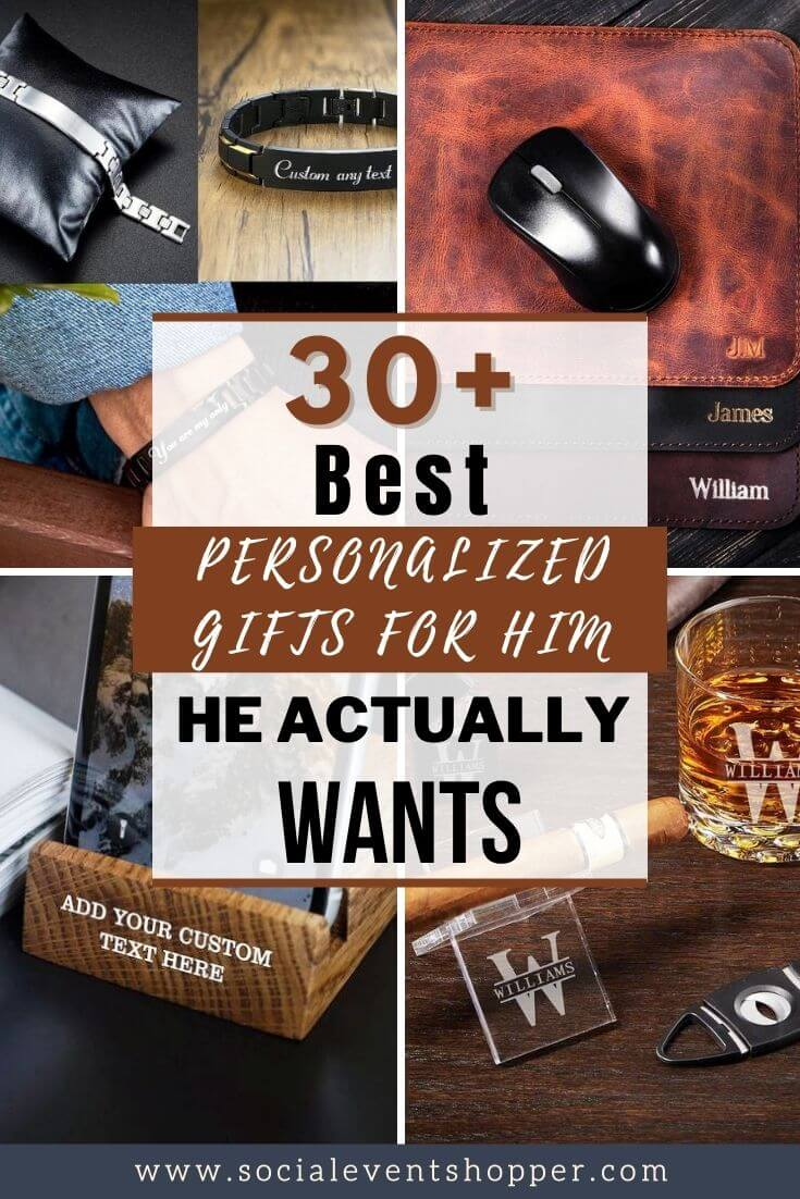 30+ Best Personalized Gifts For Him Pinterest
