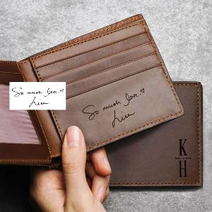 Engraved Leather Wallet