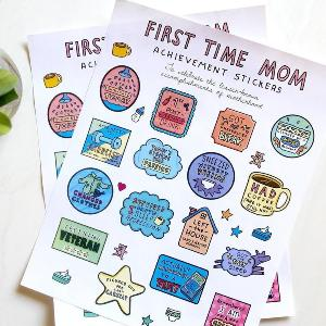 First Time Mom Achievement Stickers