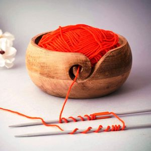 Wooden Yarn Bowl for Crochet and Knitting